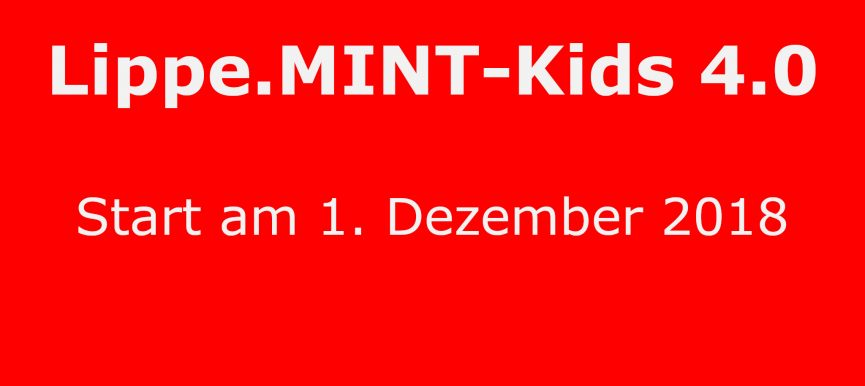 Lippe.MINT-Kids 4.0 gehen an den Start